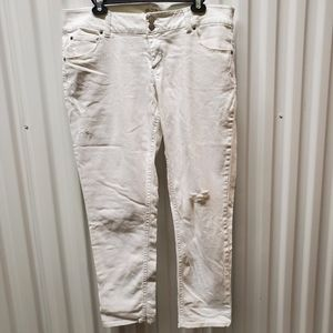 Excellent SO White Stretch distressed jeans